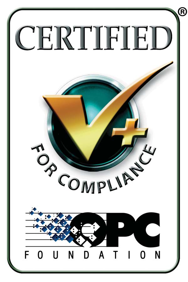 Certified by the OPC Foundation