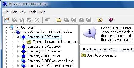 Select OPC Server